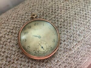 SACKVILLE ROLLED GOLD POCKET WATCH 15 JEWELS