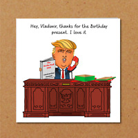 Donald Trump Birthday Card - Wall Mexico - Vladimir Putin - funny amusing humor