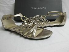 Tahari Size 6 M Randy White Gold Gladiator Sandals New Womens Shoes
