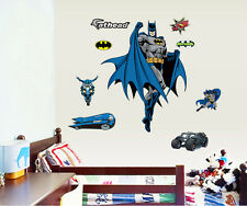 Super Hero Batman Wall Decals Removable Sticker Vinyl Art Home Nursery Decor SB