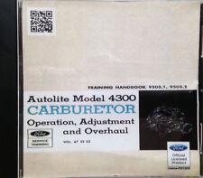 Autolite Model 4300 Carburetor (CD-ROM)