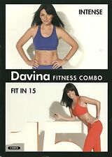 DAVINA FITNESS COMBO - 2 DVD BOX SET - INTENSE * FIT IN 15 - DAVINA McCALL