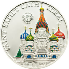 World of Wonders, St. Basil s Cathedral 2010, 5$, Silber, Palau, 7 Weltwunder,