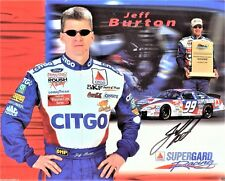 RARE JEFF BURTON AUTO: 2000 ROUSH RACING HERO 8x10 NASCAR PHOTO BIO, AUTOGRAPH