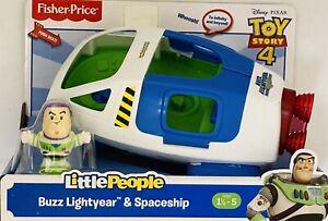 NIB Fisher Price Little People Disney Toy Story 4 Buzz Lightyear Spaceship Toy