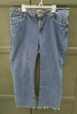 WOMEN'S RIDERS BY LEE STRETCH JEANS SIZE 22 W distressed frayed hem short petite