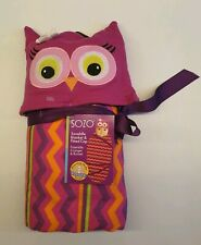 Sozo Swaddle Blanket &fitted cap .owl pattern Bnwt.