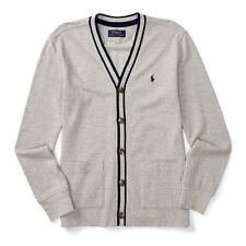 Ralph Lauren Boys Cotton Mesh Cardigan Sweaters Boy Size 7
