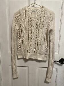 Abercrombie & Fitch XS White Chunky Knit Sweater