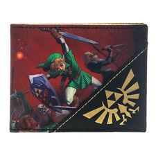 Nintendo Legend of Zelda Ocarina of Time 3d Bi-Fold Wallet ** Consegna Gratuita nel Regno Unito