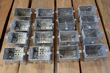 """Lot of 16 C-H 78618910 158 4 1-Gang Switch Boxes 2.5"""" Deep 12.5 Cubic Inches"""