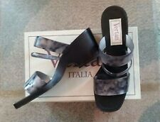 Vertan Italy Sandals Mules Slip-ons Shoes Size 8 Black Gray