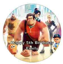 "Wreck It Ralph Personalised Cake Topper 7.5"" Edible Wafer Paper Birthday Partys"