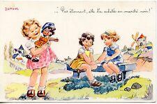 CARTE POSTALE / ILLUSTRATEUR JANSER / FANTAISIE / PAS ETONNANT / MARCHE NOIR ...