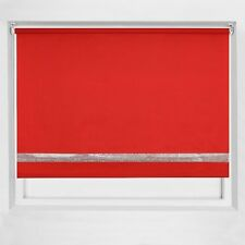 EASY FIT ROLLER BLIND TRIMABLE DIAMANTE STRAIGHT EDGE BLINDS BEDROOM KITCHEN