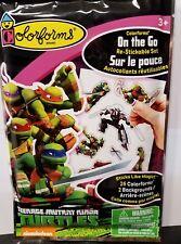 Ninja Turtles Colorforms On The Go Re-Stickable Set ~26 Pcs, 2 Backgrounds, New