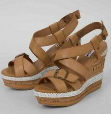 NEW NOT RATED TAN DREAM TO LIVE WEDGE SANDALS SHOES SIZE 8