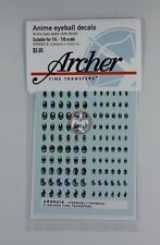 Archer (1/6 - 1/4) Anime Eyeball Decals #2 (10 Large 3 Colors 60 Figs) AR99016