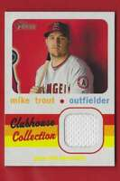 2020 Topps Heritage Clubhouse Collection Relics Mike Trout #CCRMT 128491