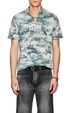 Ralph Lauren RRL Hawaiian Beach Print Camp Polo Shirt XXL New
