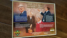 1991-92 UPPER DECK COMMEMORATIVE SHEET NCAA COACHES JOHN WOODEN RUPP KNIGHT SGA