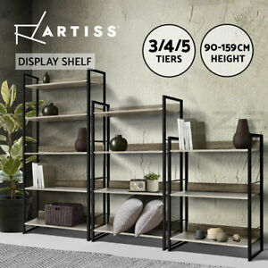 Artiss Bookshelf Metal Bookcase Bookshelves Timber Book Shelf Display Storage