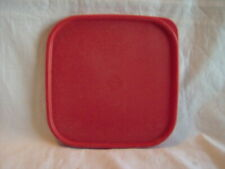 TUPPERWARE SQUARE MODULAR MATE SEAL LID # 1623 RED Red/Orange