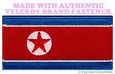 NORTH KOREA FLAG PATCH EMBROIDERED KIM JONG UN IL DPRK w/ VELCRO® Brand Fastener