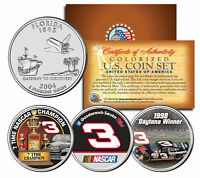 DALE EARNHARDT * Daytona Winner * 7-Time Champ * Florida Quarters US 3-Coin Set