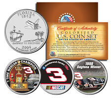 DALE EARNHARDT * Daytona Winner * 7-Time Champ * Florida Quarters US 3-Coin Set