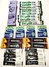26 x Hot Drink Beverage Pack Kit tea coffee chocolate milk sugar sachet portion