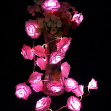 Rose Flower String Lights Fairy Lights Battery Operated Wedding Party Room Decor
