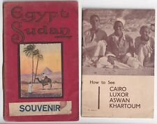 More details for lot of 2 vintage egypt and sudan guide booklets - cairo