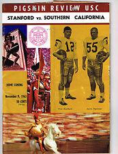 1963  USC vs STANFORD  Football Program NCAA