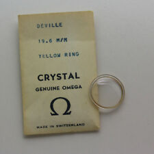 NEW Omega DeVille 19.6mm Yellow Ring Acrylic Crystal - Refill 11