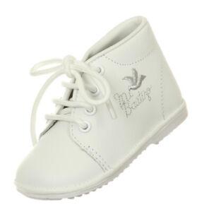 White Baby Toddler Boys Christening Baptism Shoes Embroidered Dove Bautizo New