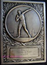MED3387 - MEDAILLE RECORD LANCER DE POIDS BREVET MILITAIRE 1931