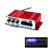 Car Bluetooth Amplifier Mini HiFi USB SD DVD FM Audio Stereo Radio MP3 Speaker R