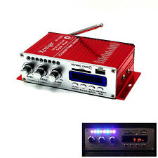 US Car Bluetooth Amplifier Red HiFi USB SD DVD FM Audio Stereo Radio MP3 Speaker