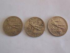 N° 3 MONETE  Regno d'Italia 20 centesimi 1913  - 1909 - 1921