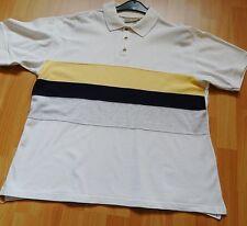 Piqué-Polohemd Gr. S weiß mit eingesetzten Stoffbahnen++ Crown Jeans