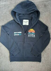 Boys Abercrombie and Fitch Blue Hoody Age 7-8