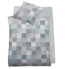 Schlafgut Daily Cotton Jersey Bettwäsche Set 135 x 200 Bügelfrei Grün Blau Grau