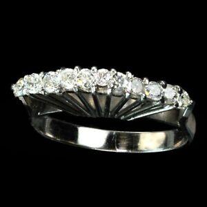 Rare WWII era diamond fan ring, 1/2 carat total M-F