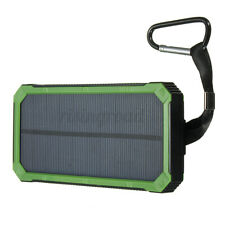 900000mAh Solar Power Bank 2 USB Battery Charger Waterproof For Mobile Phone *