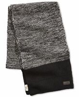 Timberland Mens Scarf Black Gray One Size Colorblock Heat Retention $58 #120