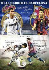 Christiano Ronaldo Lionel Messi Soccer Football Autograph Signed 2 x A4 Poster