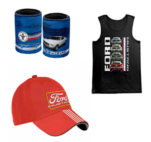 FORD MUSTANG CAR STACK TANK TOP / CAP / STUBBY HOLDER V8 SUPERCARS SIZE M