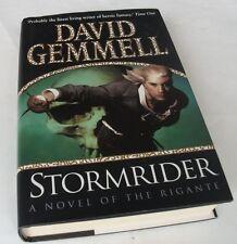 David Gemmell: STORMRIDER. SIGNED. Bantam, 2002. 1st.ed. 1/1 HB/DJ. Fine/VG