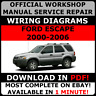 # OFFICIAL WORKSHOP Service Repair MANUAL FORD ESCAPE 2000-2006 +WIRING DIAGRAMS
